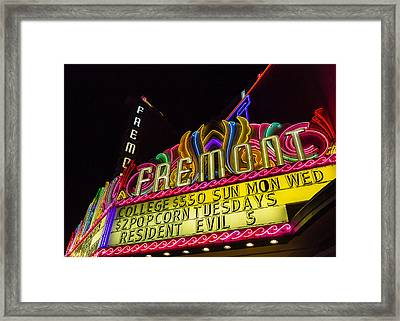The Fremont Framed Print by Caitlyn  Grasso