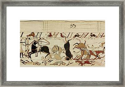 The Bayeux Tapestry Framed Print by French School