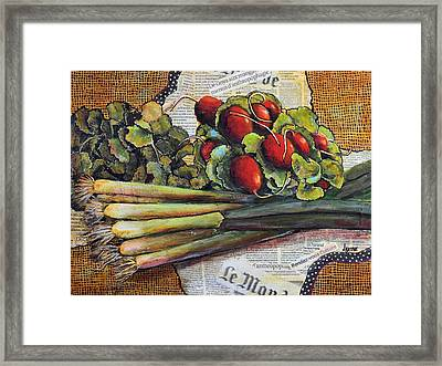 The French Cook Framed Print by JAXINE Cummins