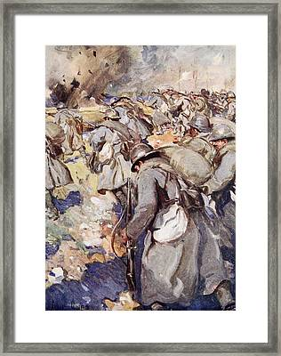 The French Force Rushed Forward To Take Framed Print by Cyrus Cuneo