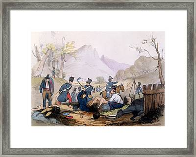 The French Foreign Legion Burying Framed Print by English School