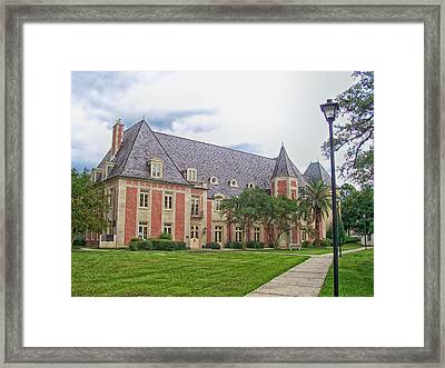 The French House On The Campus Of Lsu Framed Print by Mountain Dreams