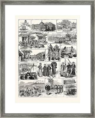 The French In Tonkin Vietnam 1. Magazine In The Citadel Framed Print by English School