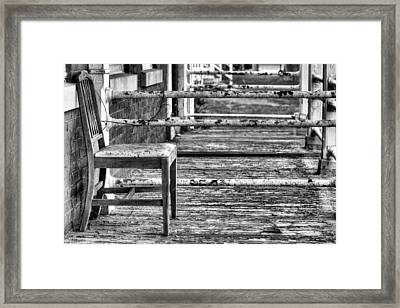 The Front Porch Bw Framed Print by JC Findley