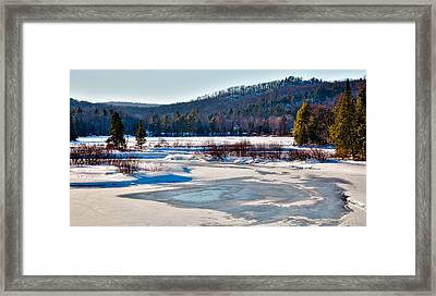 The Frozen Moose River II - Old Forge New York Framed Print by David Patterson