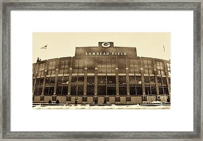 The Frozen Tundra Framed Print by Tommy Anderson
