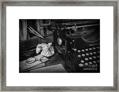 The Frustrated Writer Framed Print by Paul Ward