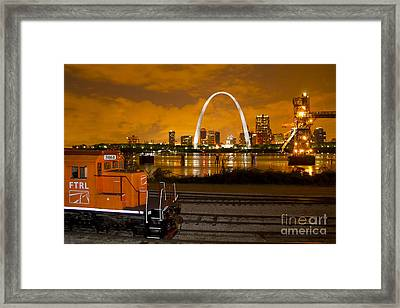 The Ftrl Railway With St Louis In The Background Framed Print by Garry McMichael
