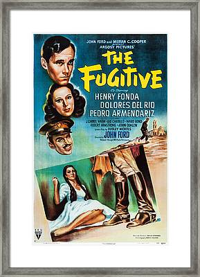 The Fugitive, Us Poster Art, From Top Framed Print by Everett