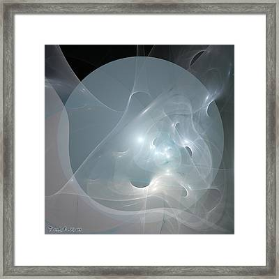 The Full Moon. 2013 80/80 Cm.  Framed Print by Tautvydas Davainis