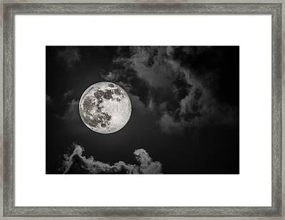 The Full Moon Is Calling Framed Print by Andres Leon