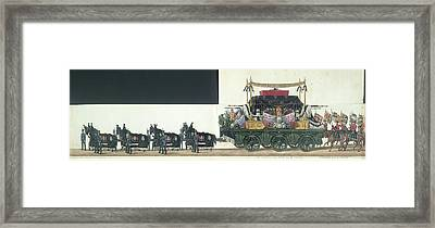 The Funeral Procession Framed Print by British Library