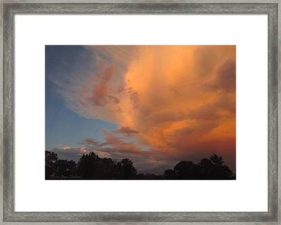The Fury And The Beauty Framed Print by Joyce Dickens