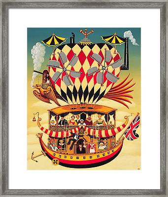 The Future Of The Transatlantic Flight Framed Print by Frances Broomfield