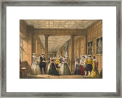 The Gallery At Hatfield House Framed Print by Joseph Nash