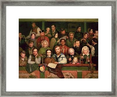The Gallery, Drury Lane Framed Print by John Watkins Chapman