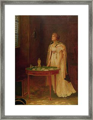 The Gamblers Wife, 1897 Framed Print by Margaret Murray Cookesley