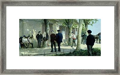 The Game Of Rampo Framed Print by Philippe Jolyet