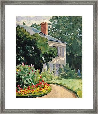 The Garden At Queue En Bri Framed Print by Ernest Rouart