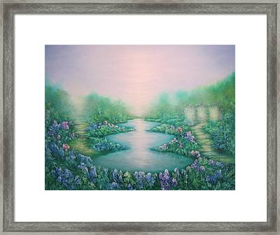 The Garden Of Peace Framed Print by Hannibal Mane