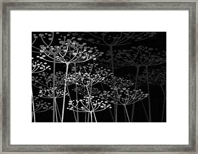 The Garden Of Your Mind Bw Framed Print by Angelina Vick