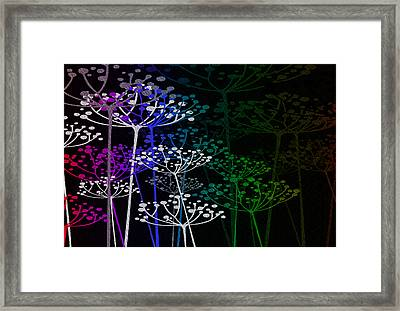 The Garden Of Your Mind Rainbow 1 Framed Print by Angelina Vick