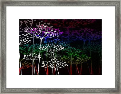 The Garden Of Your Mind Rainbow 2 Framed Print by Angelina Vick
