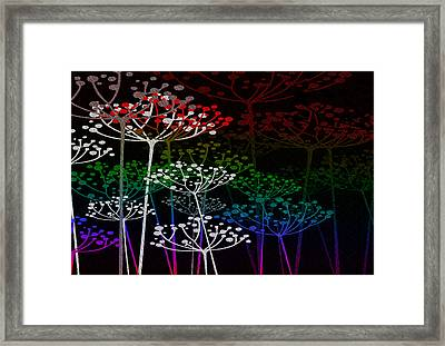 The Garden Of Your Mind Rainbow 3 Framed Print by Angelina Vick