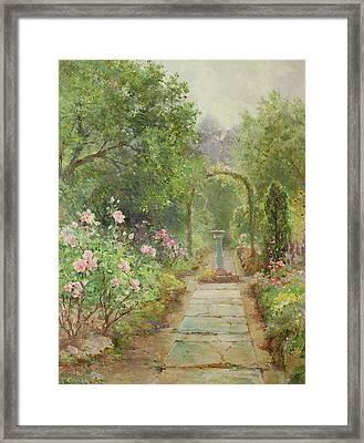 The Garden Path Framed Print by Ernest Walbourn