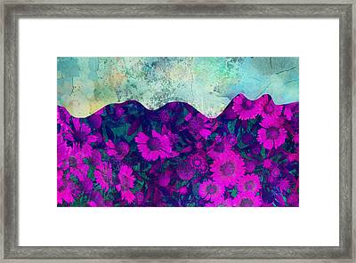 The Garden Wall Abstract Art Framed Print by Ann Powell