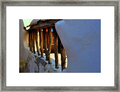 The Garden Wall Framed Print by Jan Amiss Photography
