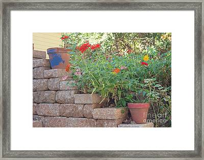 The Garden Wall Framed Print by Kay Pickens