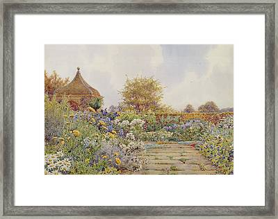 The Gardens At Chequers Court Framed Print by Ernest Arthur Rowe