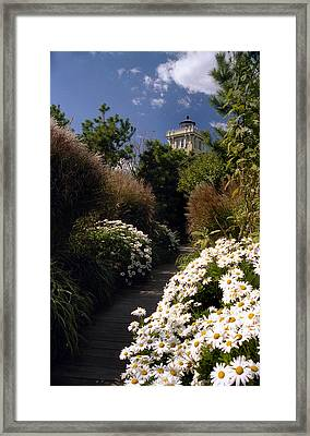 The Gardens At Hereford Framed Print by Skip Willits