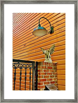The Gargoyle At The Gate Framed Print by Jean Goodwin Brooks