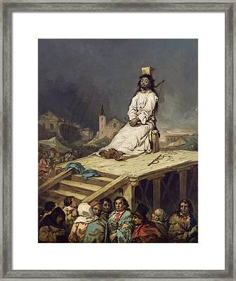 The Garrotte Framed Print by Eugenio Lucas y Padilla