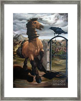 The Gatekeeper Framed Print by Lisa Phillips Owens