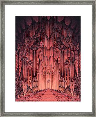 The Gates Of Barad Dur Framed Print by Curtiss Shaffer