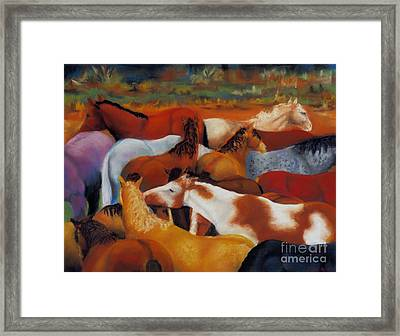 The Gathering Framed Print by Frances Marino