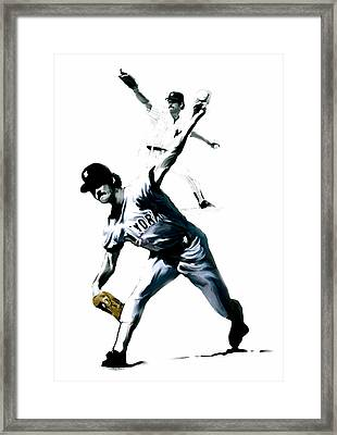 The Gator  Ron Guidry  Framed Print by Iconic Images Art Gallery David Pucciarelli