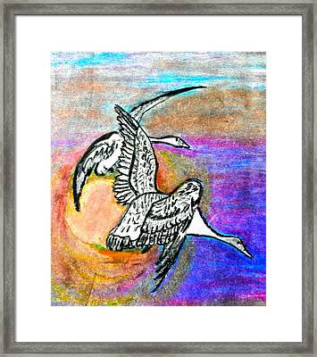 The Geese Framed Print by Jo-Ann Hayden
