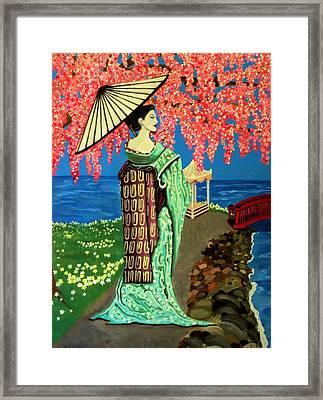 The Geisha Framed Print by Victoria Rhodehouse