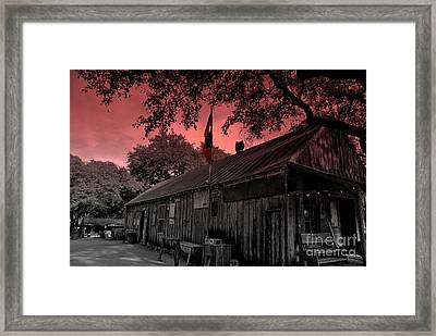The General Store In Luckenbach Texas Framed Print by Susanne Van Hulst