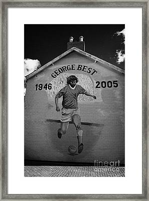 The George Best Memorial Mural On The Lower Cregagh Road In Belfast Northern Ireland Framed Print by Joe Fox