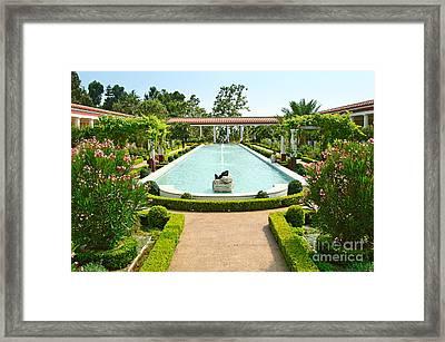 The Getty Villa Main Courtyard. Framed Print by Jamie Pham