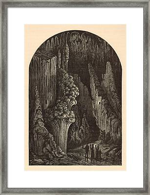 The Geyser 1872 Engraving Framed Print by Antique Engravings