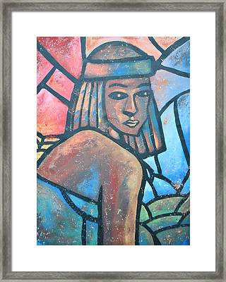 The Ghost Of Happiness Framed Print by AC Williams