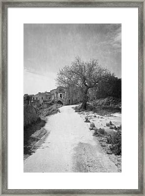 The Ghost Town Framed Print by Donatella Loi