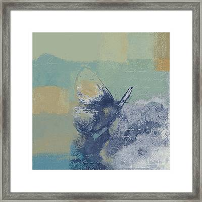 The Giant Butterfly And The Moon - J216094206-c09a Framed Print by Variance Collections