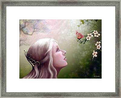 The Gift Framed Print by Britta Glodde